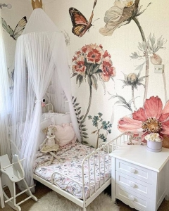 white baby canopy for nursery